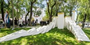 U Trogiru otvoren spomenik hrvatskim braniteljima 'Trogirska kruna'