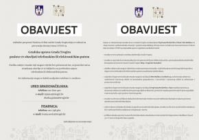 Obavijest – Obustava rada sa strankama i organizacija rada gradske uprave Grada Trogira